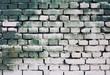 Brick old wall texture with gradient paint green white colors fo