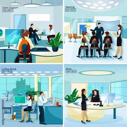 Fototapeta Office People 2x2 Design Concept   obraz na płótnie