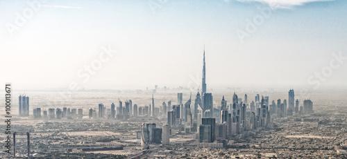 Obraz na płótnie Stunning aerial view of Dubai skyline, UAE.