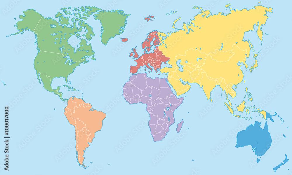 Gamesageddon Stock Weltkarte Kontinente