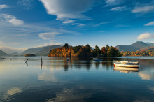 Derwentwater In The English Lake District.