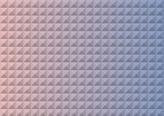 Gradient Rose Quartz and Serenity colored triangle polygon seamless pattern background. Endless texture. Pattern swatches included in file.