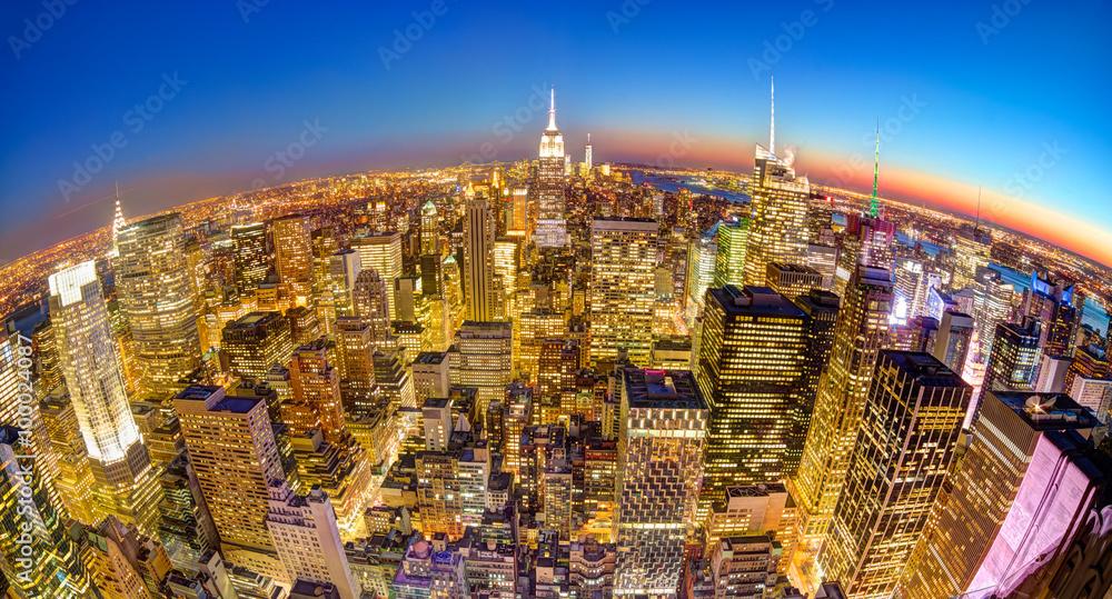 Fototapety, obrazy: New York City Manhattan downtown skyline.