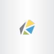 letter k with triangles logo logotype icon
