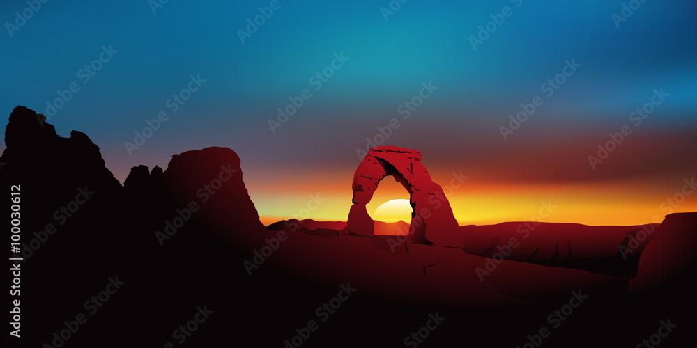 Fototapeta Paysage Sandstone Arch