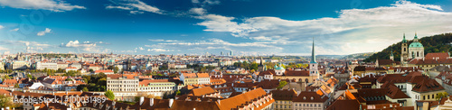 Photo  Panorama, cityscape of Prague, Czech Republic.