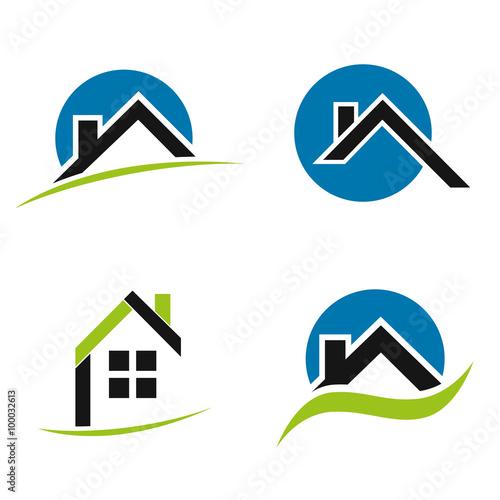 Logo maison business icons acheter ce vecteur libre de for Logo avec une maison