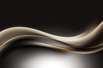 Abstract Brown Wave Design Background