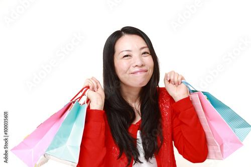 買い物好きな女性 Tablou Canvas