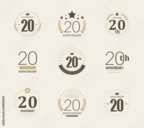 Photo  Twenty years anniversary celebration logotype