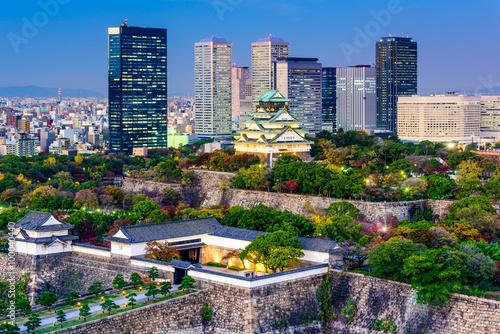 Naklejka premium Osaka, Japonia Skyline