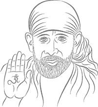 Sai Baba Stipple Effect