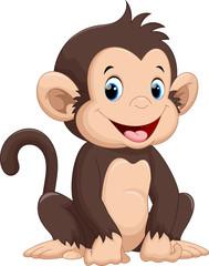 Fototapeta Cute monkey cartoon