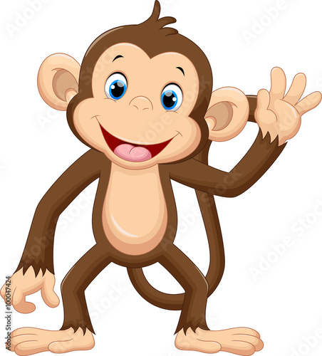 monkey pictures cartoon cute monkey waving buy this stock vector and explore 4901
