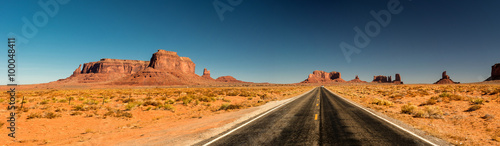 Deurstickers Arizona Road to Monument valley, Arizona