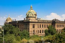 Back View Of Historic Czech National Museum Building, Prague