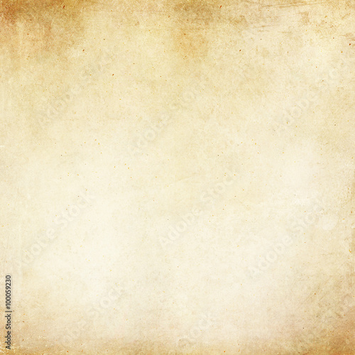 Fotografie, Obraz  Vintage Tan Parchment Antique Paper Grunge Background