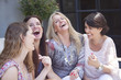 Leinwanddruck Bild - Happy group of adult women having fun