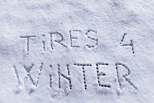 Words Tires For Winter In Snow