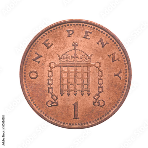 Fotografía  British One Penny Coin