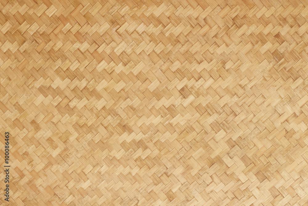 Fototapety, obrazy: Bamboo woven flat mat natural bamboo background