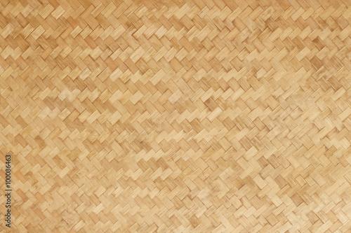 Fotografiet  Bamboo woven flat mat natural bamboo background