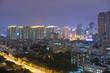 Guangzhou, China-Jan. 7, 2015: Dense buildings night view. Night