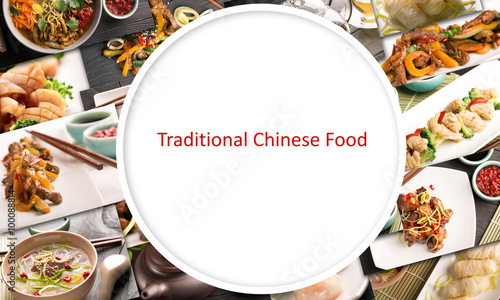 Traditional chinese food Canvas Print
