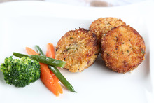 Crab Cakes With Vegetables