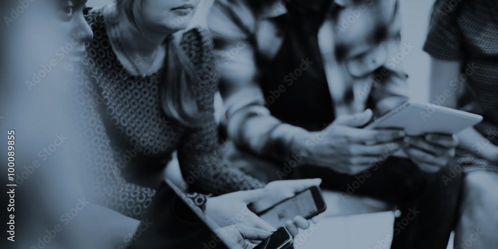 Fototapety, obrazy: Team Teamwork Meeting Start up Concept