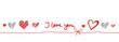 I Love You Band Banner Schleife Herz Herzen Rot Hintergrund Text