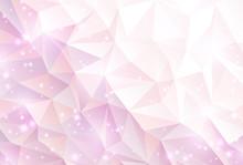 ピンク ポリゴン 光...