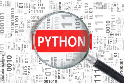 Software Development Concept Python Programming Language Inside