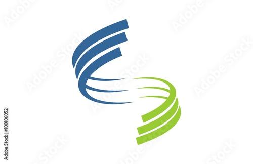 Fotografia  letter s connection logo