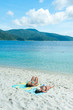 Couple on a tropical beach. Rawee Island ,Thailand