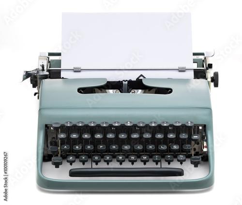 vintage typewriter with blank paper Canvas-taulu