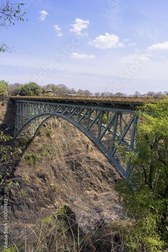 Staande foto Afrika ジンバブエとザンビア・国境の橋