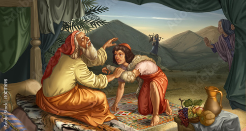 Esau & Jacob Canvas Print