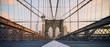 Panoramic view on Brooklyn Bridge