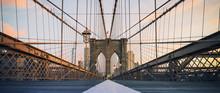 Panoramic View On Brooklyn Bridge