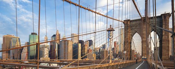 FototapetaPanoramic view of Brooklyn Bridge