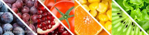 Spoed Foto op Canvas Vruchten Fruits and vegetables
