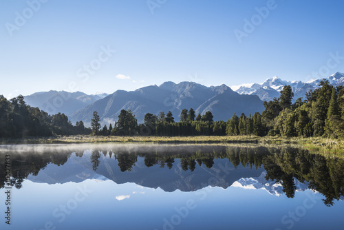 Canvas Prints New Zealand Reflections on Lake Matheson , South Island New Zealand