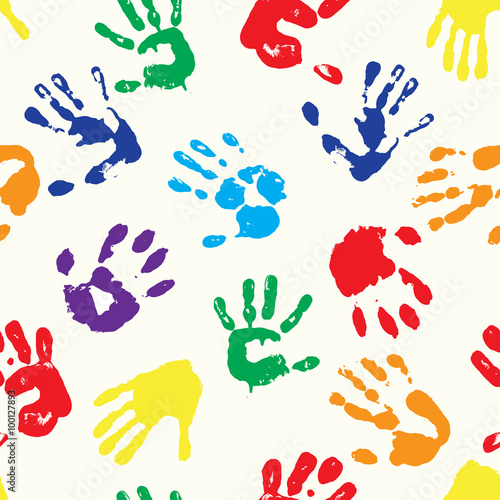 rainbow fingerprints Tablou Canvas