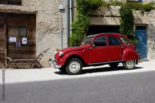 Canvas Print Citroen 2cv rossa
