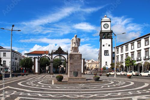 Fotografía Main square of Ponta Delgada, Sao Miguel island, Azores, Portugal