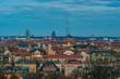 Blick über Leipzig am Abend/Völkerschlachtdenkmal, Gasometer
