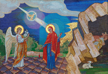 FototapetaReligion. Mosaic of Saints. Orthodox church in Kirowograd Ukraine