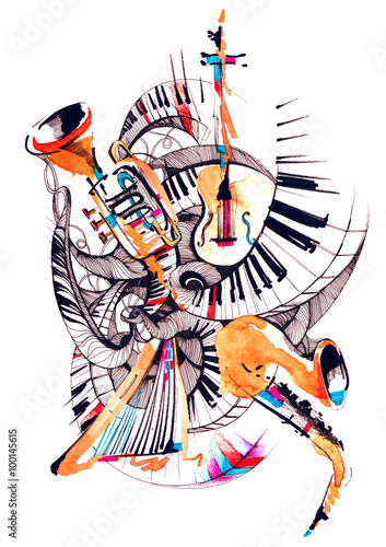 Fotografie, Obraz  musical instruments