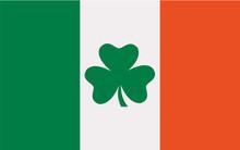 Ireland Flag With Clover